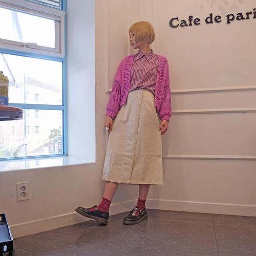 台形巻きスカート