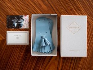 【tassel_light blue】Tassel quilt(タッセルキルト)