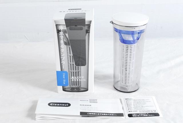 2271 未使用 Cleansui クリンスイ 浄水器 クリアブルー 52000-CB 浄水できるタンブラー 250ml