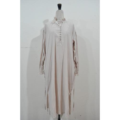 【RehersalL】bijou bolume sleeve onepiece(pink beige) /【リハーズオール】ビジューボリュームスリーブワンピース(ピンクベージュ)
