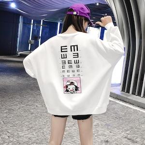【トップス】ファッション通勤プリントラウンドネックパーカー43010367