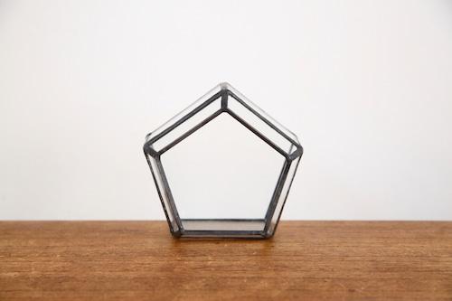 五角形 ガラス テラリウム