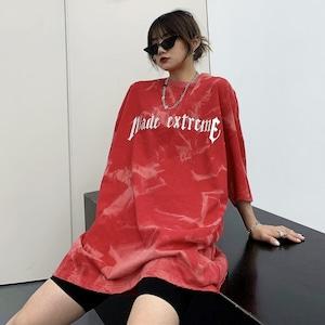 【トップス】タイダイ半袖ストリート系カジュアルプリントキュートTシャツ46302700