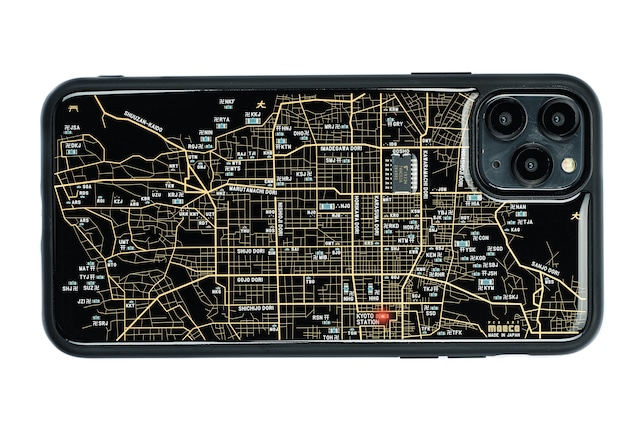 FLASH 京都回路地図 iPhone 12 Pro Max ケース 黒【東京回路線図A5クリアファイルをプレゼント】