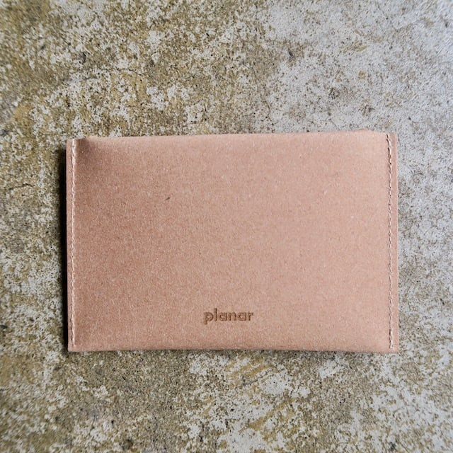 Planar  Recycled Leather Envelope Card Case
