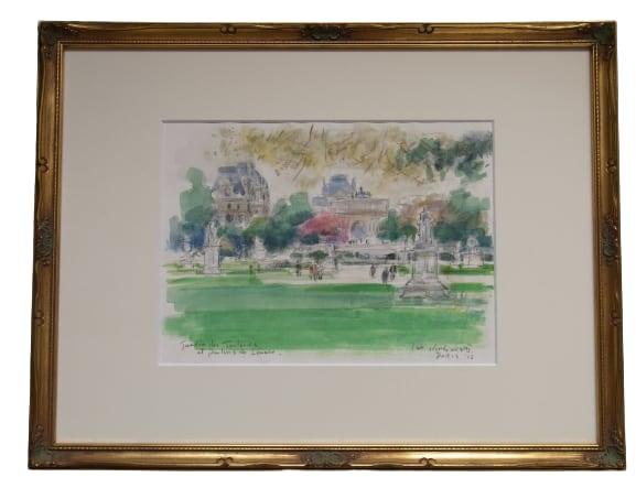 チュイルリー庭園とルーブル宮