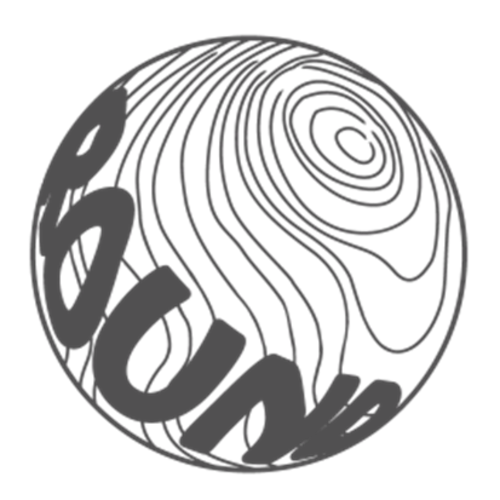 球体ロゴステッカー直径5cm【グレー】