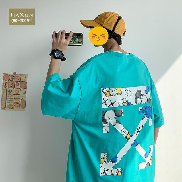 【トップス】半袖ストリートキュートバツ図柄プリントファッションTシャツ43343246