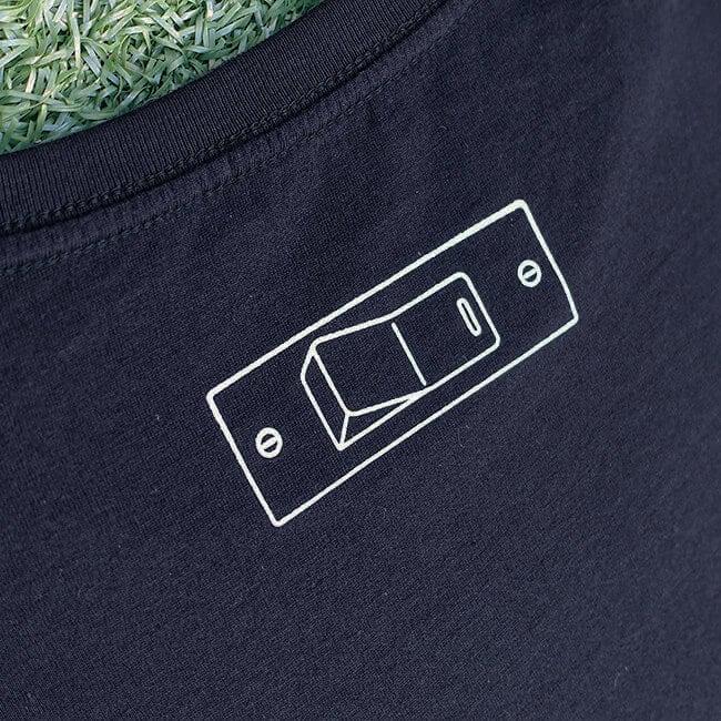 sasakure.UK 「ココロ♥ポッカリ」Tシャツ(メンズ/ネイビー) - 画像3