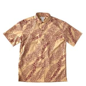 Mountain Men's ボタンダウンアロハシャツ / Lei aloha