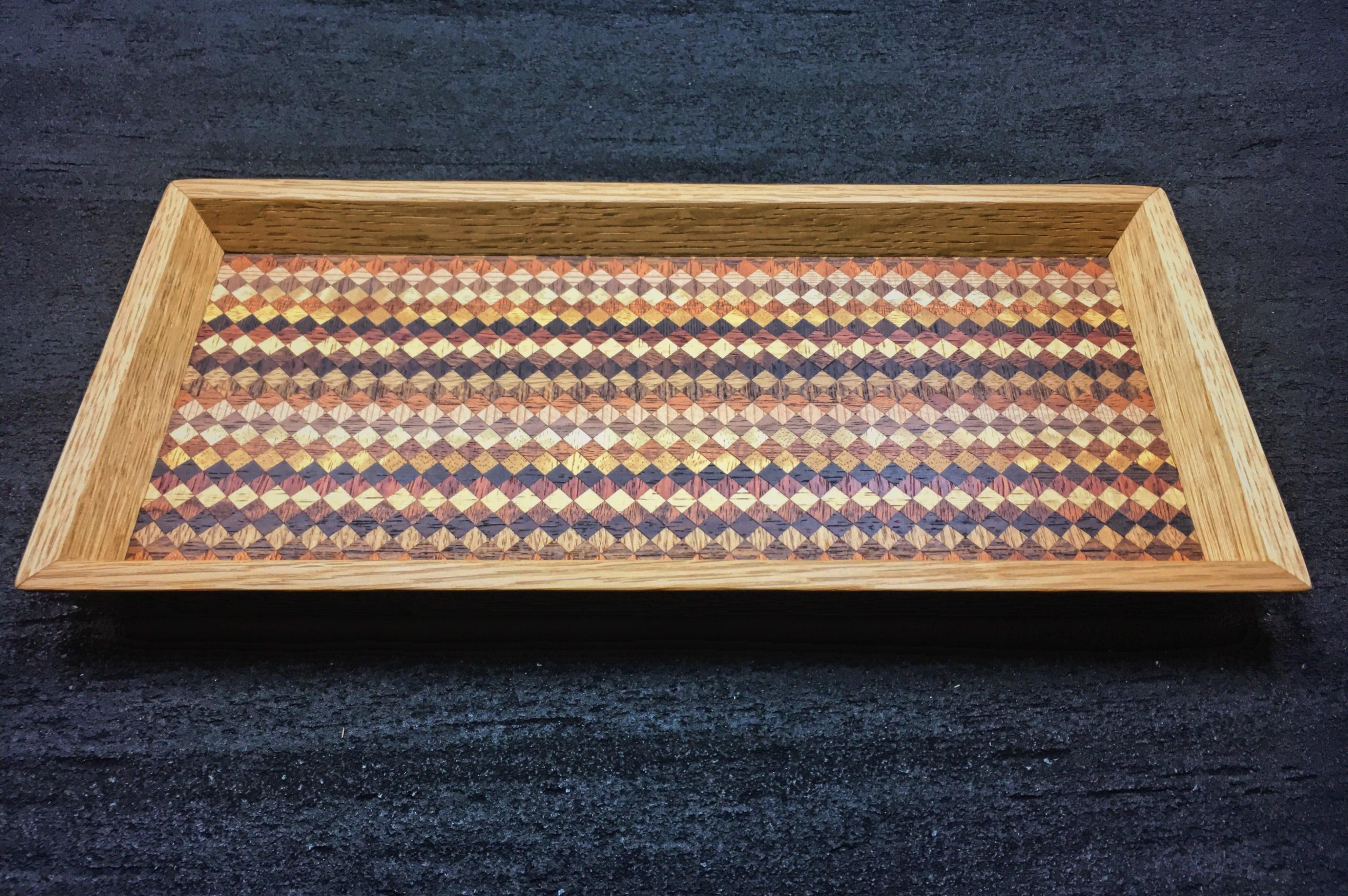 wood checker mini tray 0091