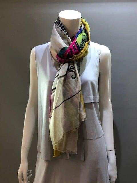 LARIOSETA(ラリオセタ)OK159/10895 Col.3 モダールコットン イタリア製 プリントスカーフ