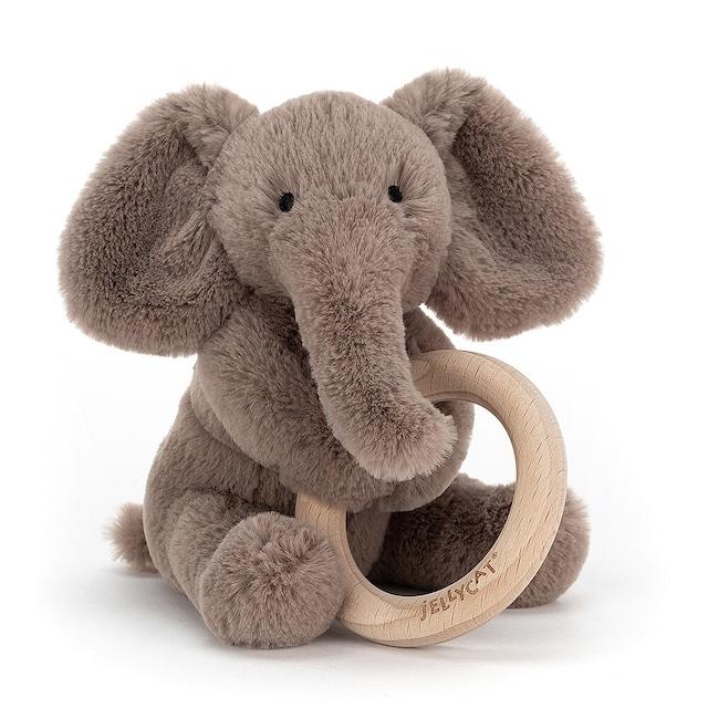 Shooshu Elephant Wooden Ring Toy_SHO4WE