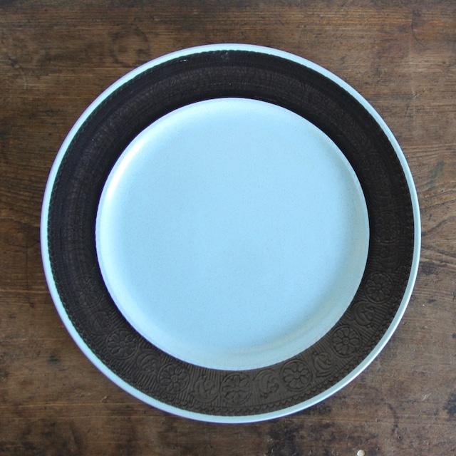 王冠マーク 水色大皿ストーンウェア