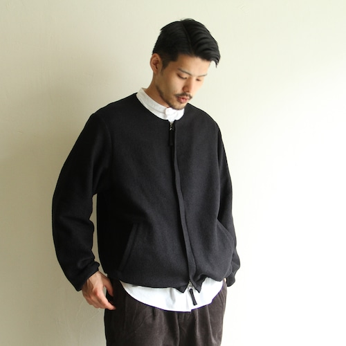 STILL BY HAND  【 mens 】wool boa bluson