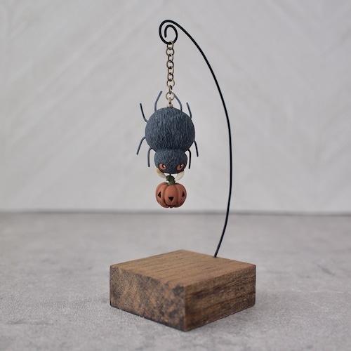 クモとカボチャ - 塑像