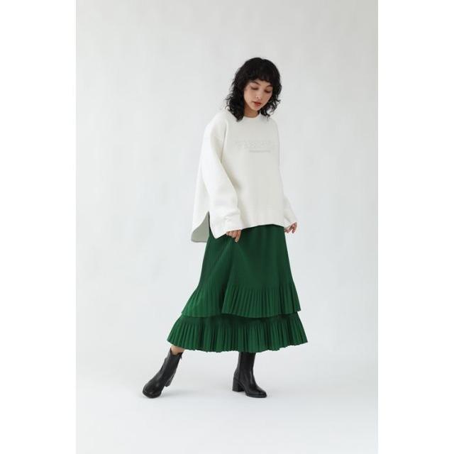 《ご予約特典10%OFF》11月中旬納期【 Mylanka 】-   M26602 - ティアードプリーツスカート ¥14850