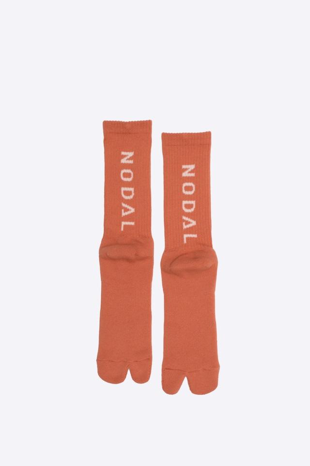 NODAL Logo Socks(Orange × Off White)