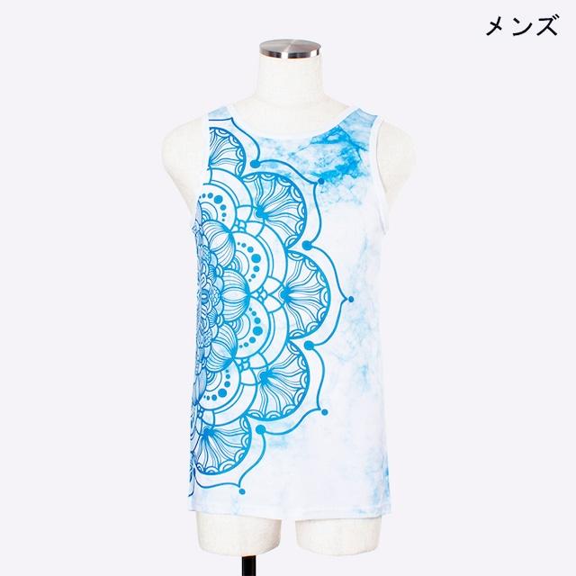 ヨガプリントタンク マンダラ1 メンズ/ユニ Men's Yoga Print tank top Mandala1