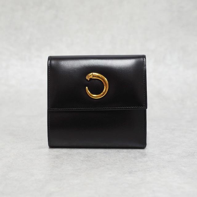Cartier カルティエ パンテール コンパクトウォレット ブラック レザー