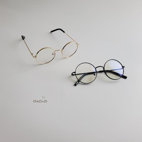 【即納】細フレーム丸メガネ