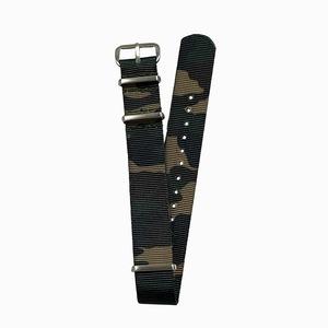 NYLON NATO TYPE WATCH STRAP /  Original Camouflage pattern strap