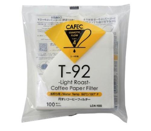 CAFEC 2〜4杯用円すいペーパーフィルター 100枚入り 浅煎り・中深煎り・深煎り用