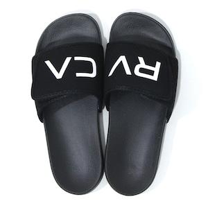 【RVCA】 VELCRO SLIDER (BLACK)