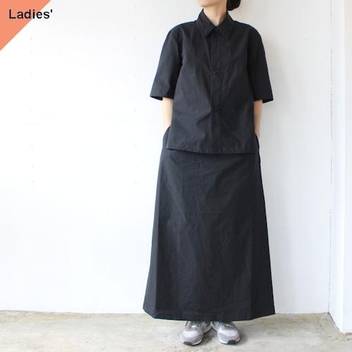 THE HINOKI Organic cotton poplin setup dress コットンポプリンドレス TH21S-22 Midnight