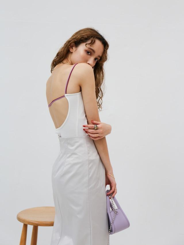 narrow strap camisole(white)