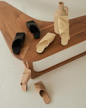 diagonal cut square sandal