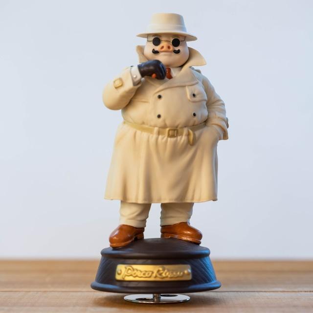 紅の豚 磁器オルゴール(ポルコ/トレンチコート)