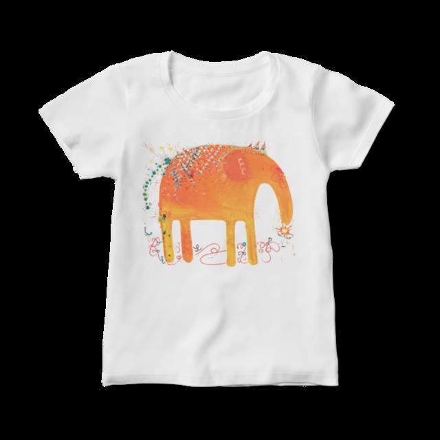 旅するゾウさん -レディース向けTシャツ- M/L