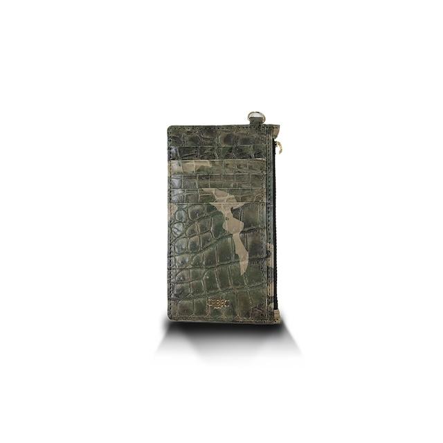 クロコダイル マット カードケース カモフラ