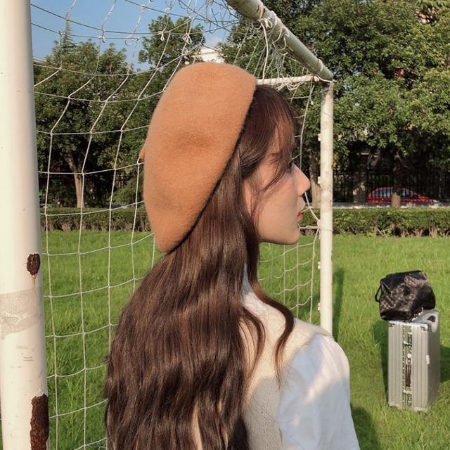 レトロガーリー♡シンプルベーシックベレー帽 C0293
