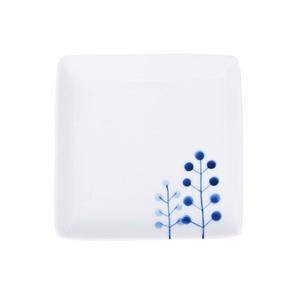 波佐見焼 WAZAN 和山窯 flowers 角取皿 ドットツリー 327025