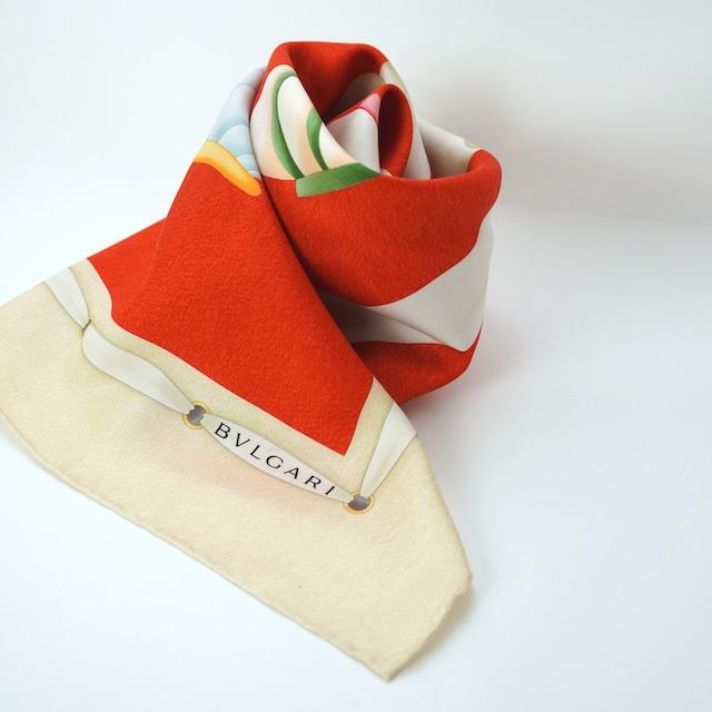 【MADE IN ITALY】BVLGARI シルクスカーフ