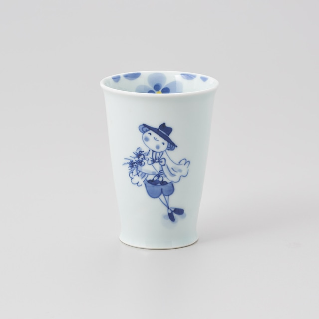 """【青花】""""夢見る異人"""" タンブラー(花束)"""