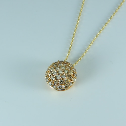 《超特価》0.50ct ダイヤモンド パヴェペンダント/K18YG【コード00Z】