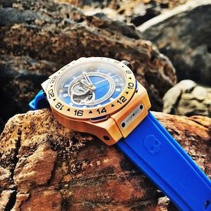 【HYDROGEN WATCH ハイドロゲンウォッチ】HW424404/VENTO ヴェント(ブルー)/国内正規品 腕時計
