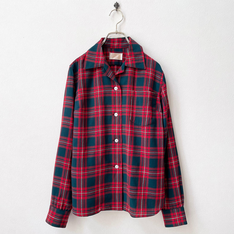ペンドルトン PENDLETON チェック柄 オープンカラーシャツ 60年代 USA製 ヴィンテージ古着 日本M