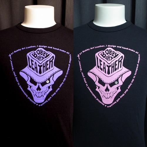 2016年 限定カラー スカルハットロックTシャツ(ハープルロゴ/ピンクロゴ)