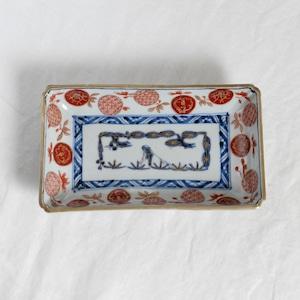 【31015】伊万里 長皿 赤絵 / Imari Rectangle Plate /