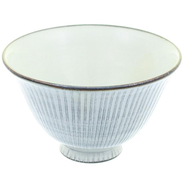 京焼 清水焼 関陶房 飯碗 茶碗 大 京わび白十草 588989