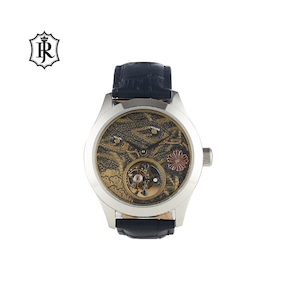JOHNNYROGER メンズ 腕時計 フライングトゥールビヨン Tourbillon Python