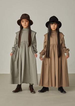 【21AW】GRIS ( グリ )Tuck Soulder Gather Dress[ M ]AlpaGreen ワンピース