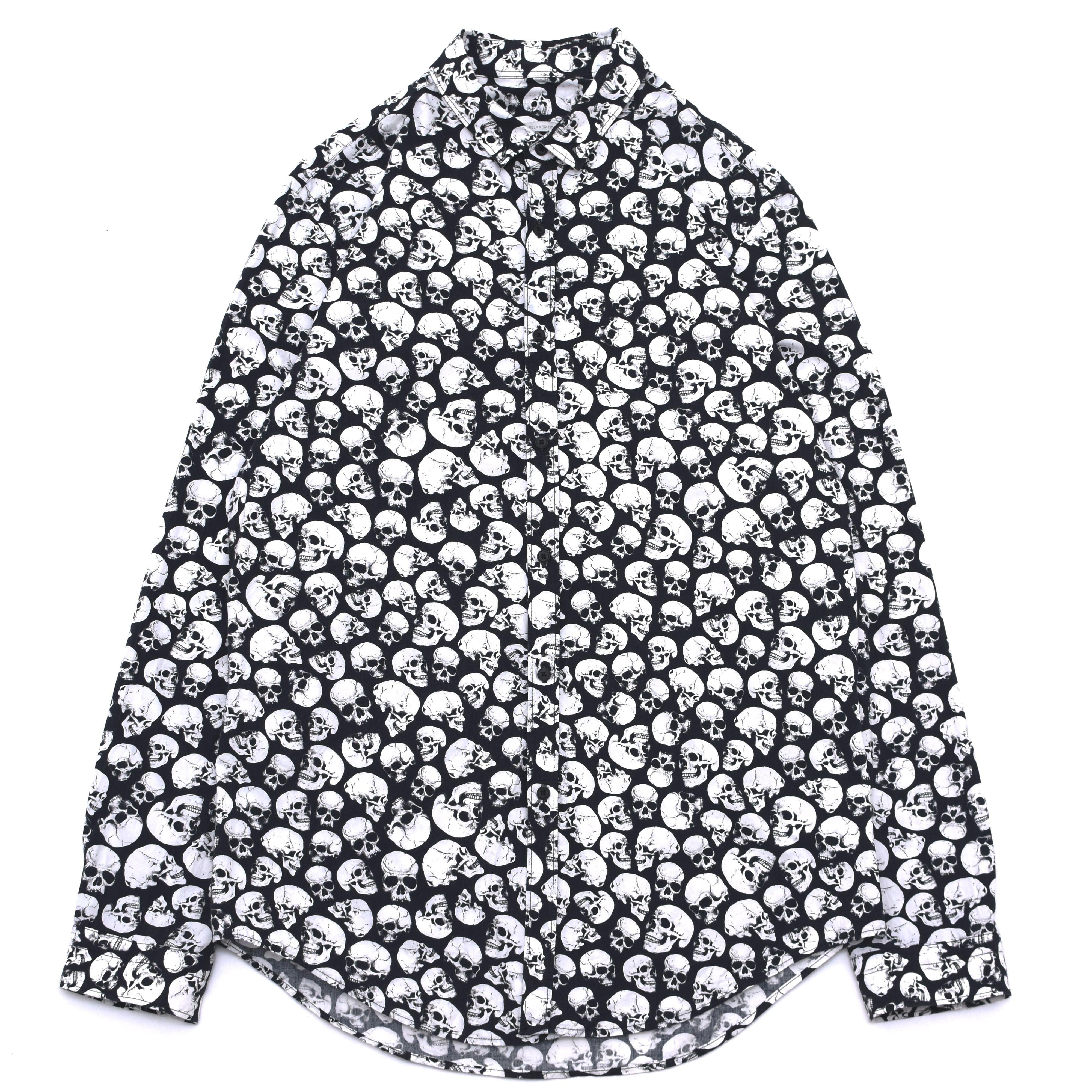 skull pint all over pattern shirt