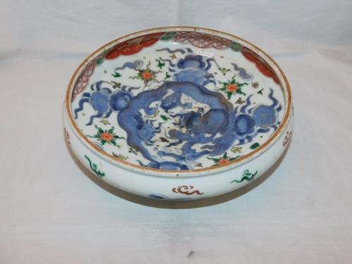 伊万里色絵竜絵鉢 Imari porcelain  bowl
