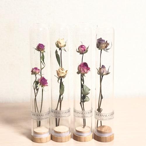 ガラスボトル in ドライフラワー薔薇