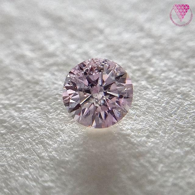 0.089 ct Fancy Light Pink I1 CGL 天然 ピンク ダイヤモンド ラウンド ブリリアント シェイプ
